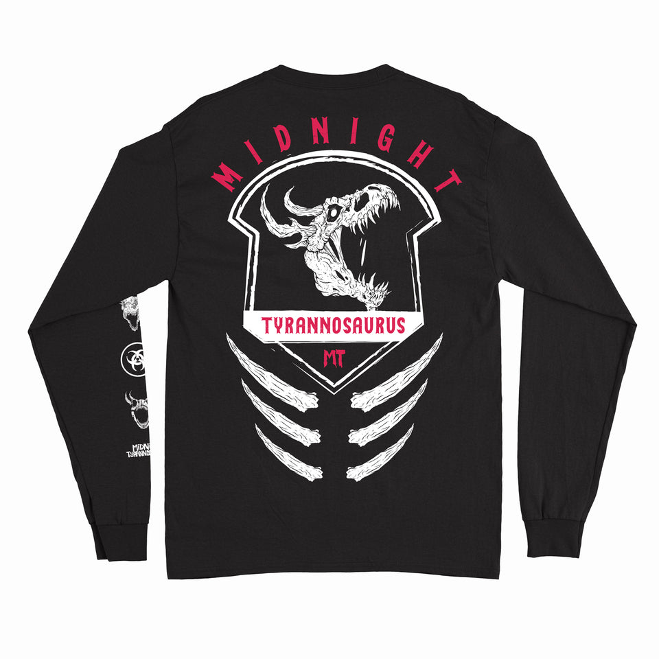 Midnight Tyrannosaurus - Zombie Rex - Black Long Sleeve