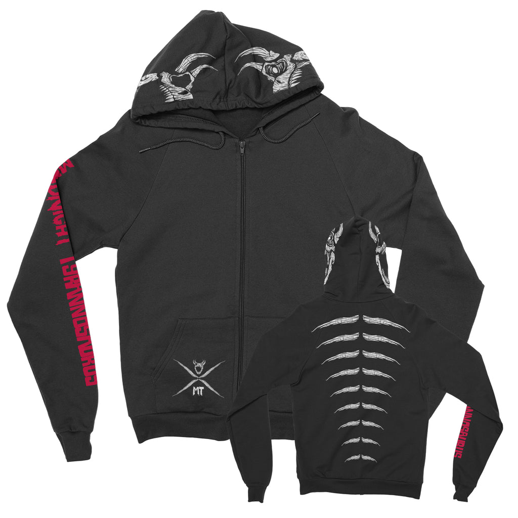 Midnight Tyrannosaurus - Logo - Zip Up Hoodie