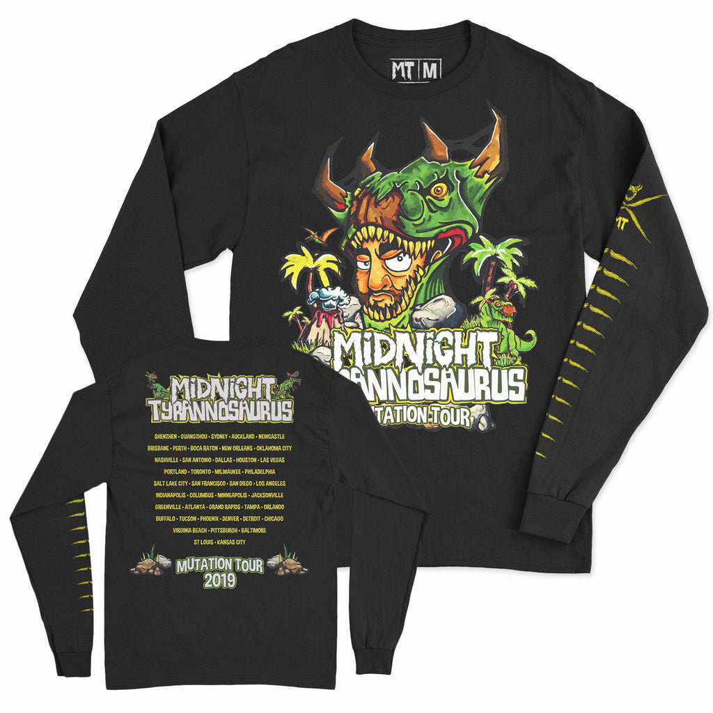 Midnight Tyrannosaurus - Mutation Tour 2019 - Unisex Long Sleeve Shirt