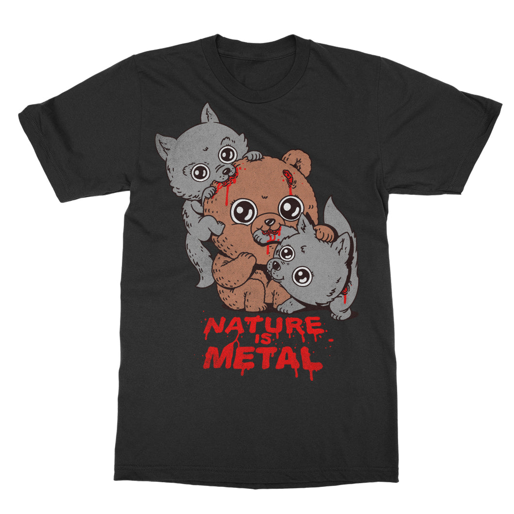 Nature Is Metal - Teddy Bite - Black T-Shirt