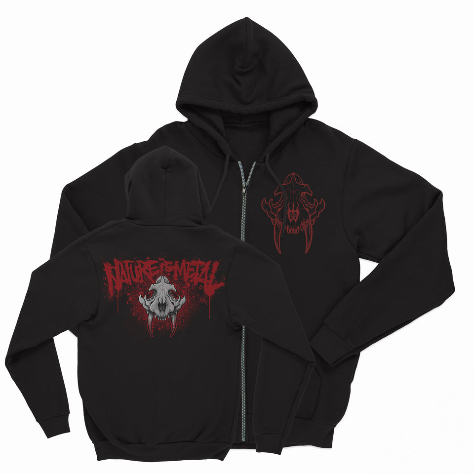 Nature Is Metal - Black Zip Up Hoodie