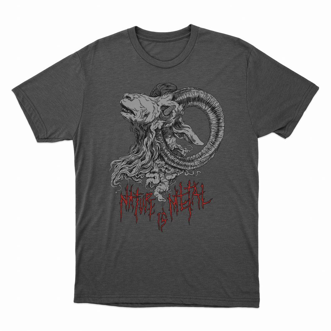 Nature Is Metal - Mr. Self Destruct - Charcoal Heather T-Shirt