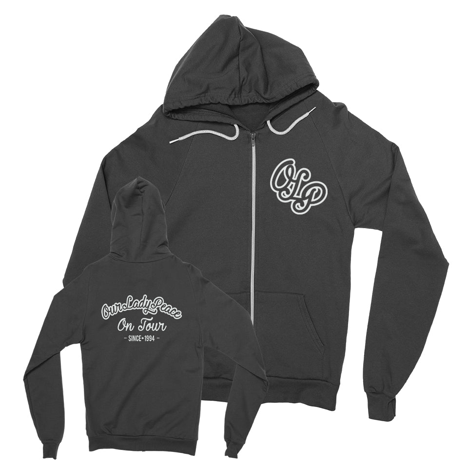 Our Lady Peace - On Tour - Black Zip Up Hoodie
