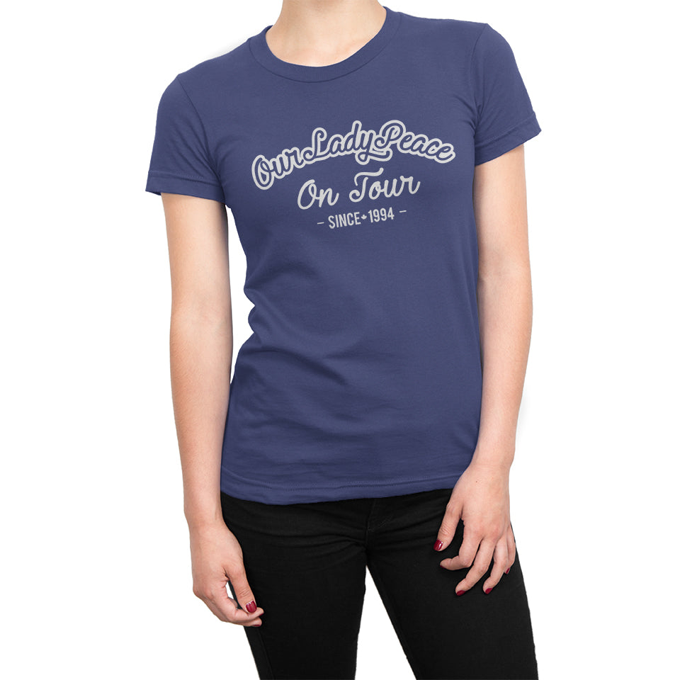 Our Lady Peace - On Tour Ladies Navy Blue Tee