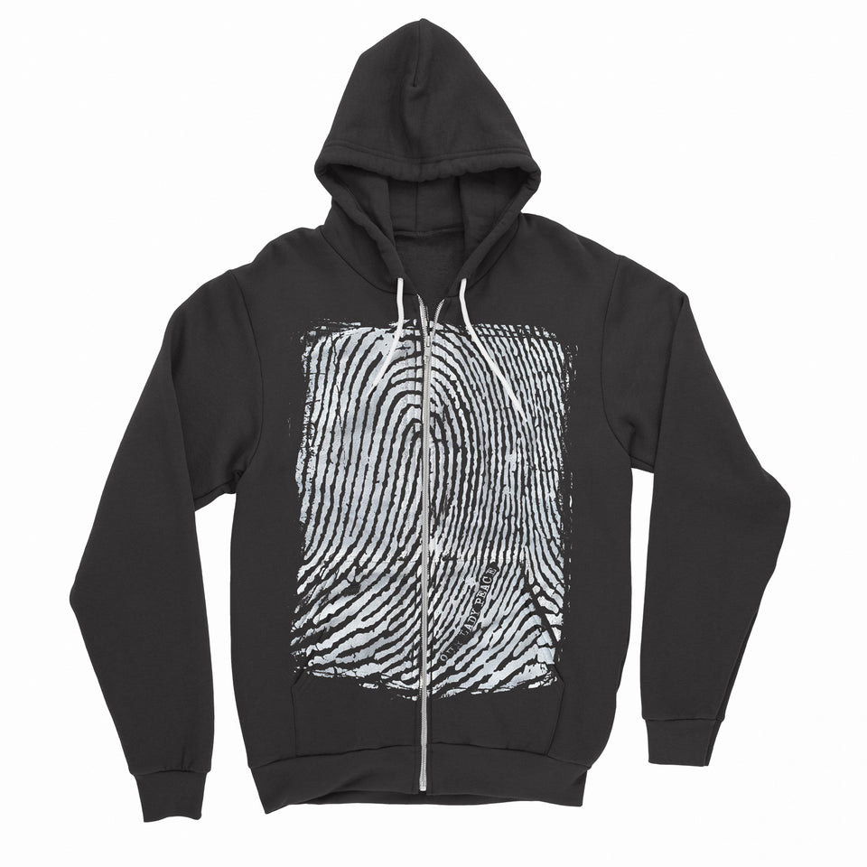 Our Lady Peace - Fingerprint - Black Zip Up Hoodie