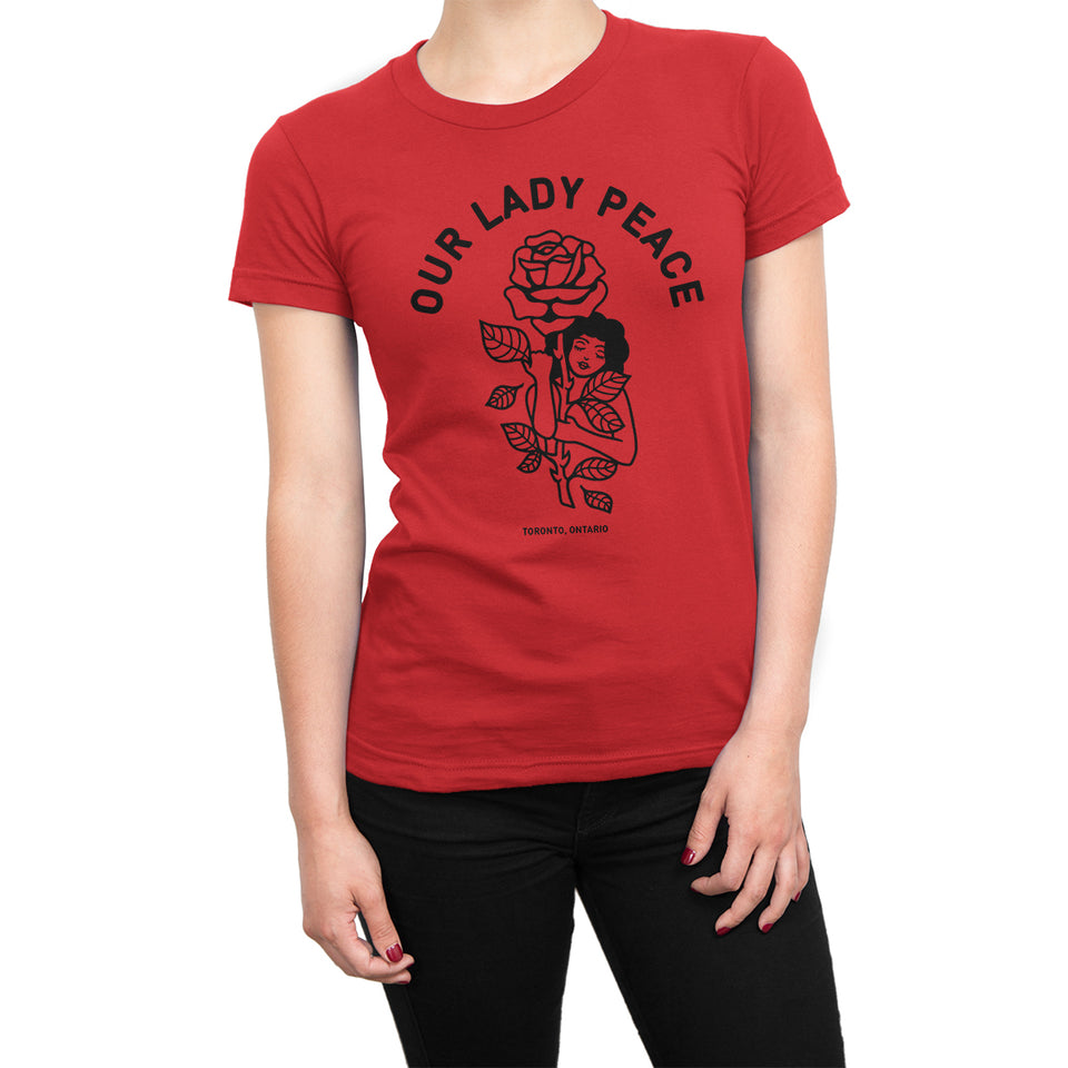 Our Lady Peace - Rose Girl Ladies Red Tee