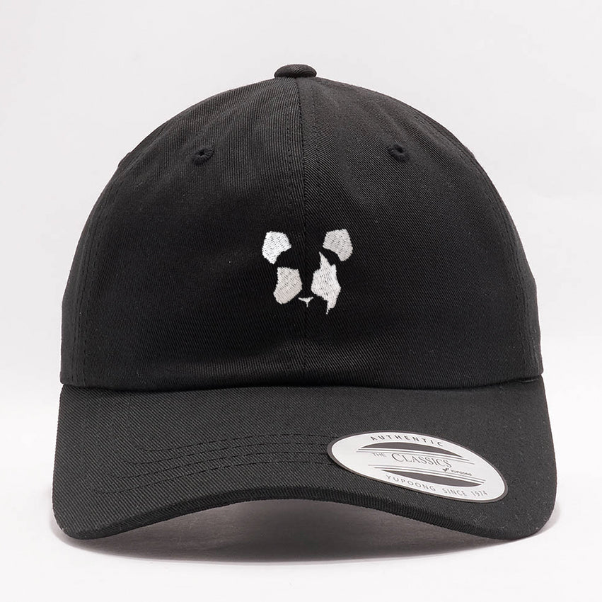 Panda Eyes - Logo - Black Dad Hat