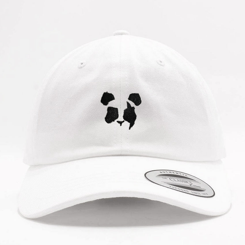 Panda Eyes - Logo - White Dad Hat