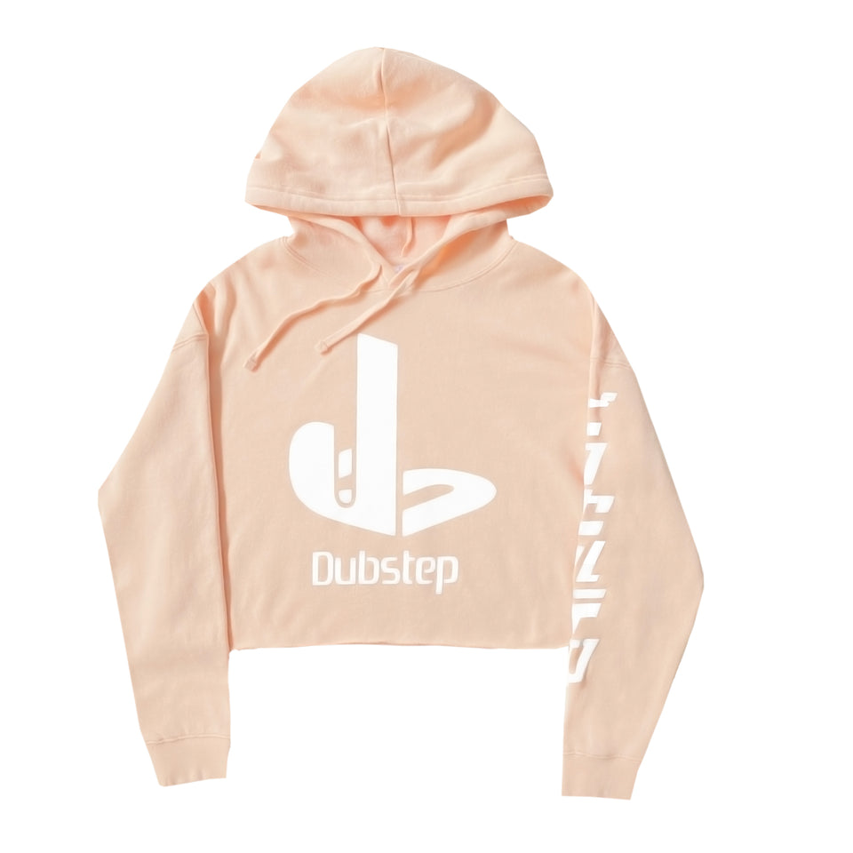 Pixel Terror - Dubstation - Blush Crop Hoodie