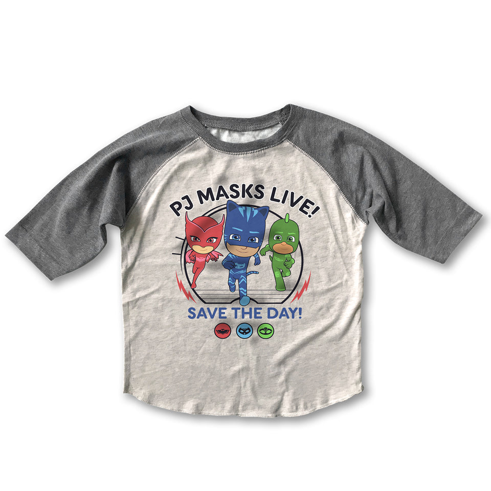 PJ Masks - Save The Day - Retro Raglan Shirt