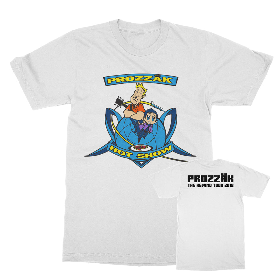 Prozzak - The Hot Show - White Tour Tee