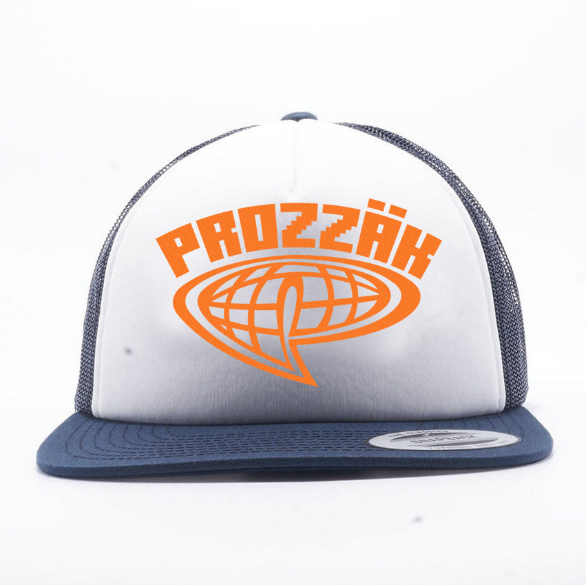 Prozzak - Logo - Blue and White Trucker Hat