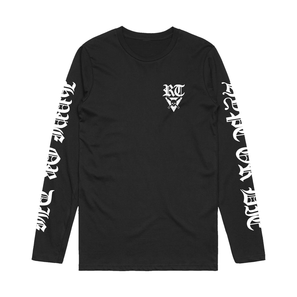 Riot Ten - Skull - Long Sleeve Tee - Black