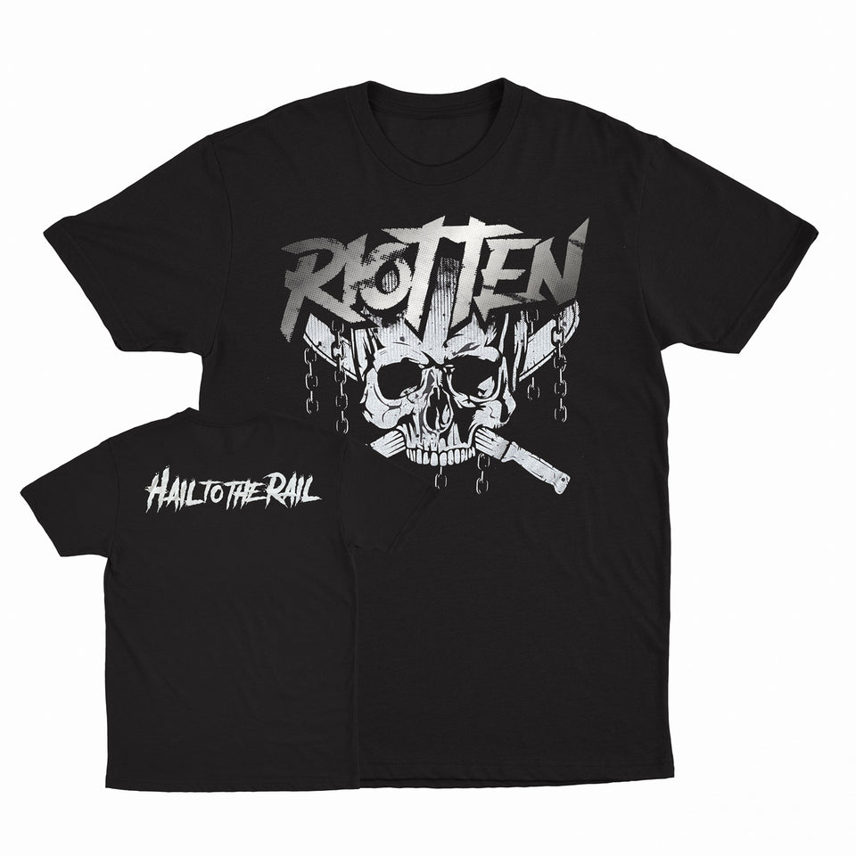 Riot Ten - Hail To The Rail - Black Metallic Foil Tee