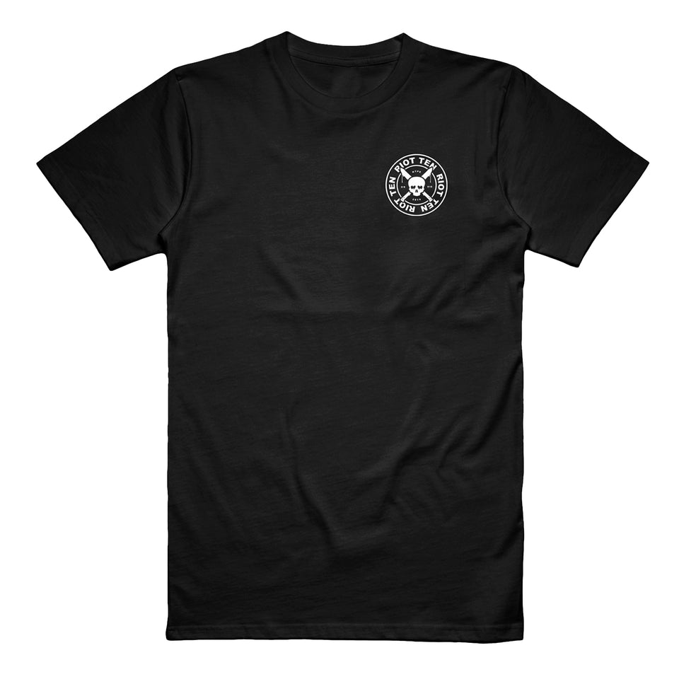 Riot Ten - Skull and Dagger - Black Tee