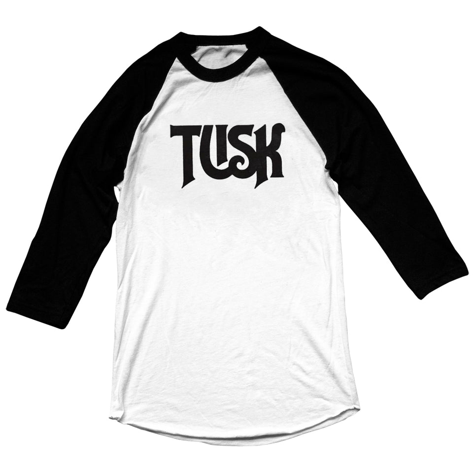 Royal Tusk - TUSK - Unisex Raglan - Black / White