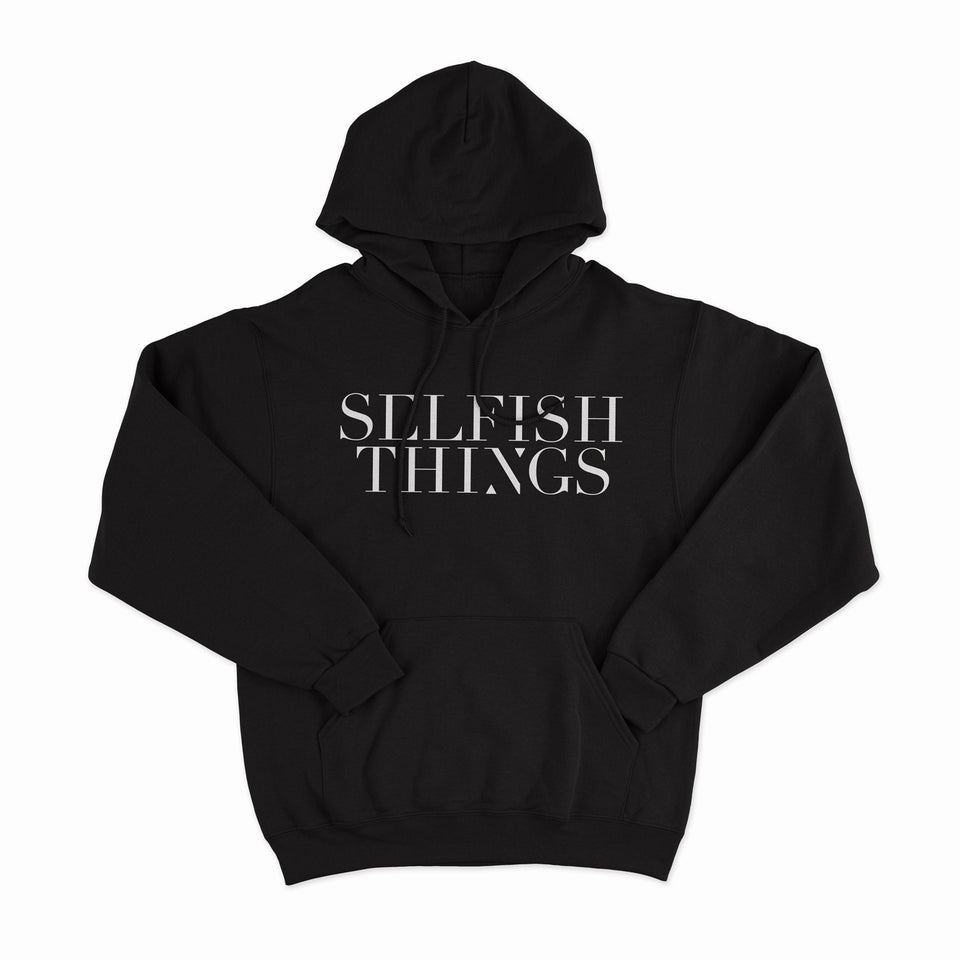 Selfish Things - Shattered Being - Black Pullover Hoodie