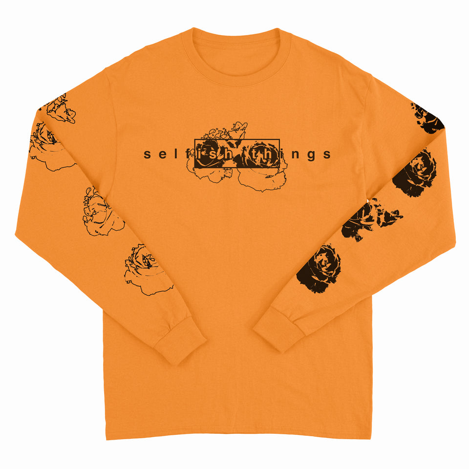 Selfish Things - Floral - Orange Long Sleeve