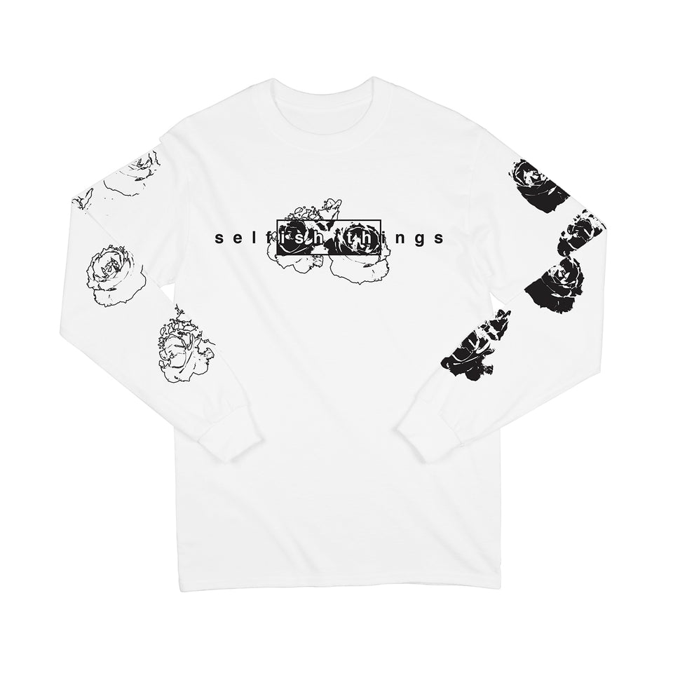 Selfish Things - Floral - White Long Sleeve
