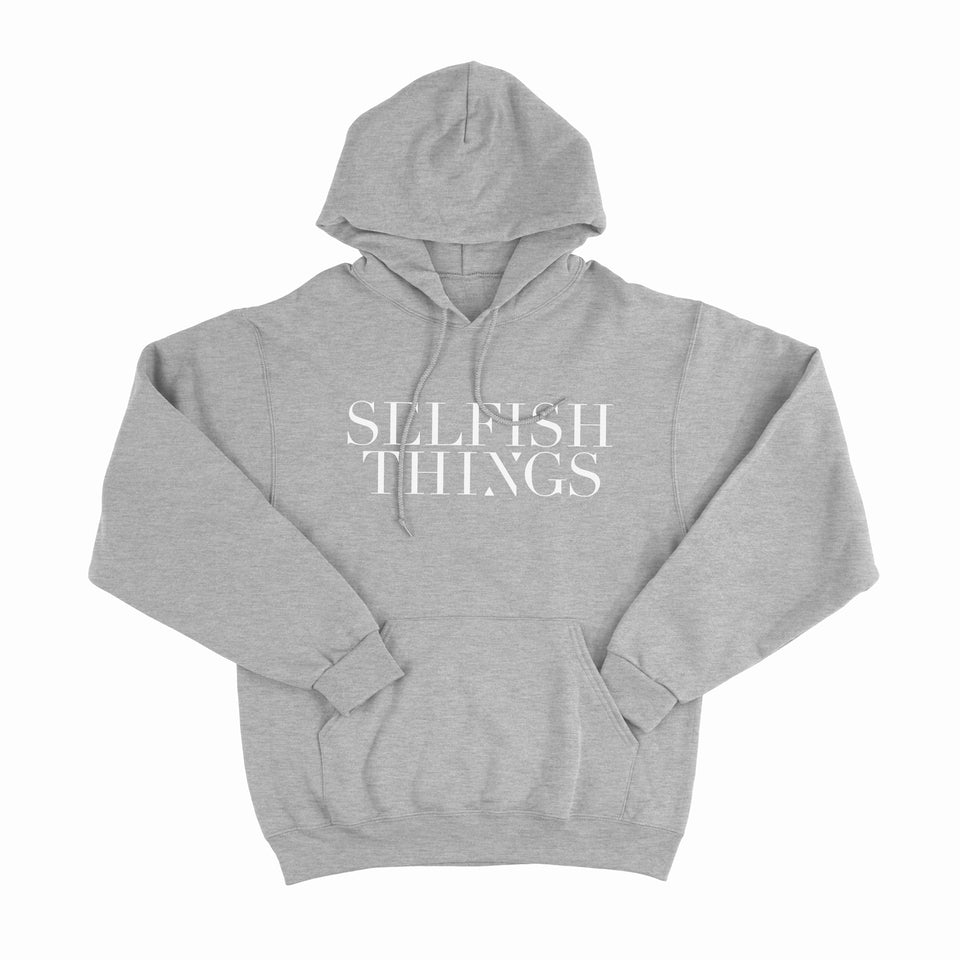 Selfish Things - Shattered Being - Heather Gray Pullover Hoodie