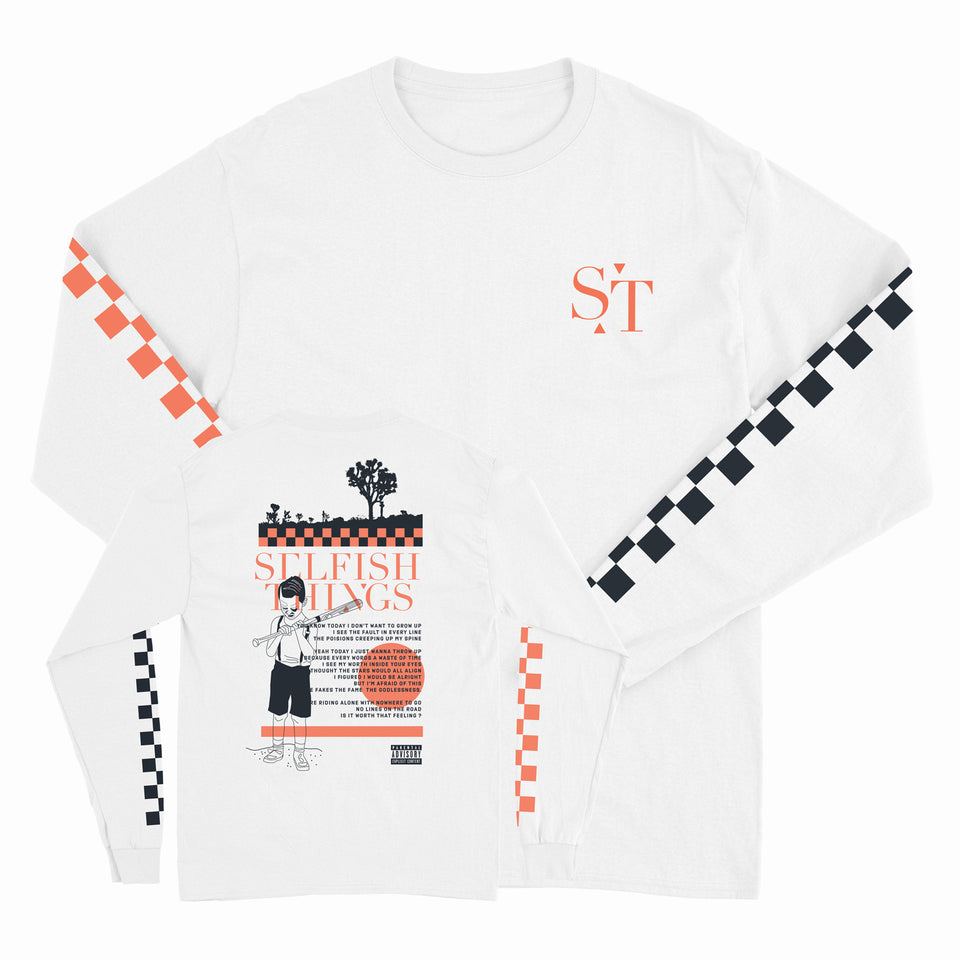 Selfish Things - Logo - White Long Sleeve