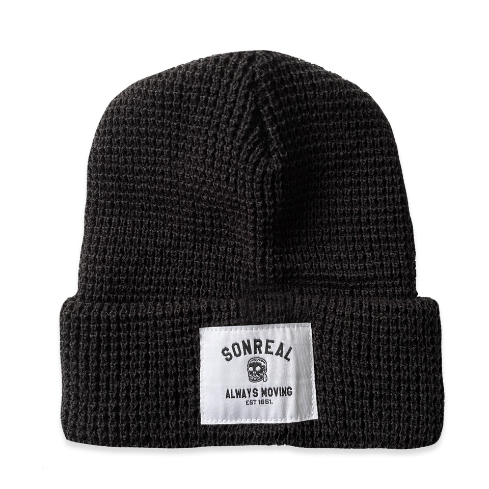 SonReal - Always Moving - Waffle Knit Beanie - Black