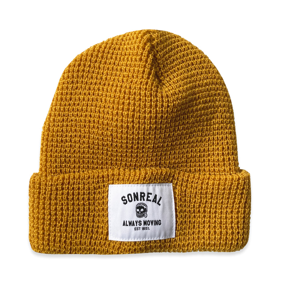 SonReal - Always Moving - Waffle Knit Beanie - Harvest