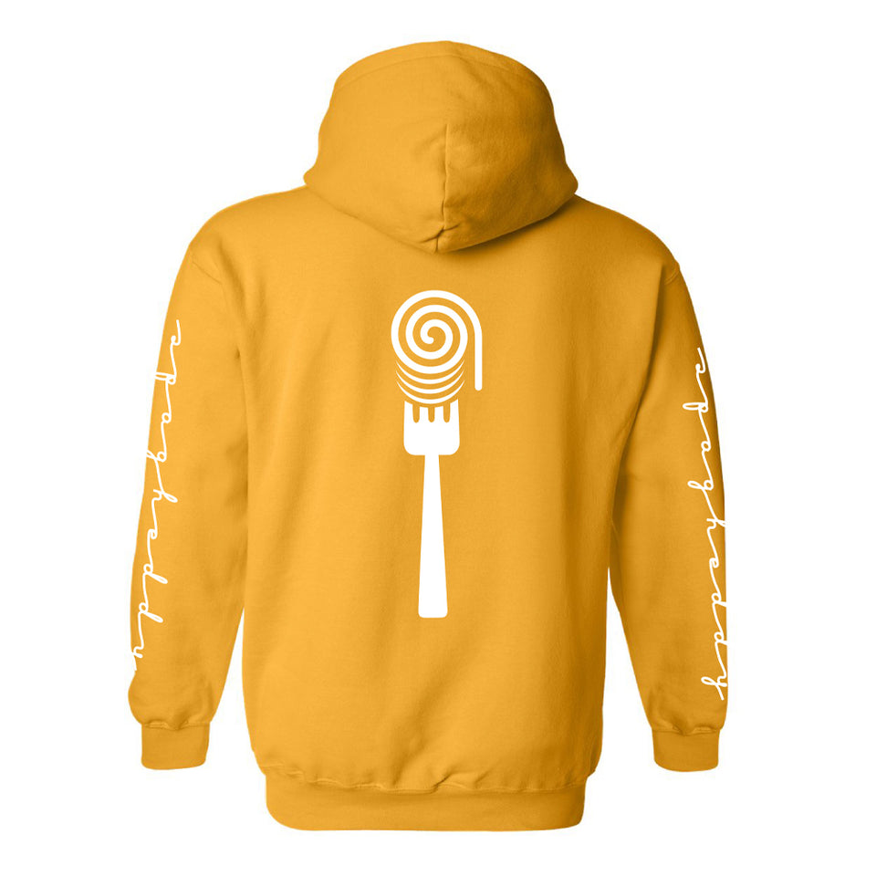 Spag Heddy - Saucy Horns - Gold Pullover Hoodie