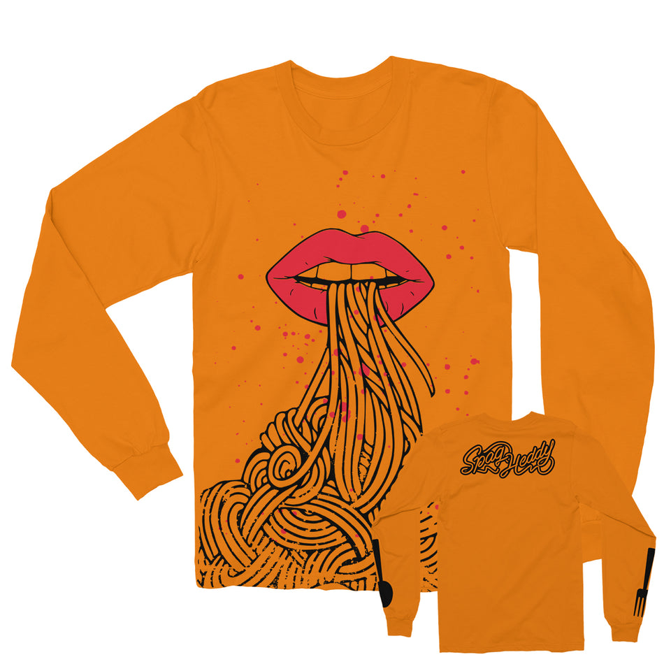 Spag Heddy - Saucy Lips - Orange Long Sleeve