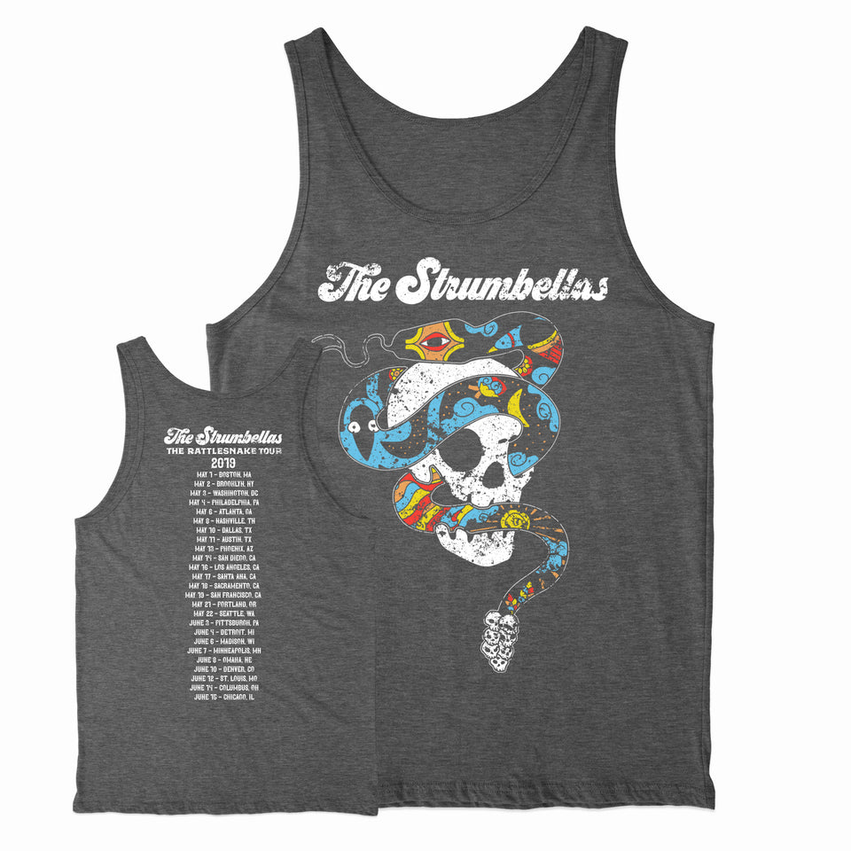 The Strumbellas - Rattlesnake US Tour - Heather Gray Tank Top