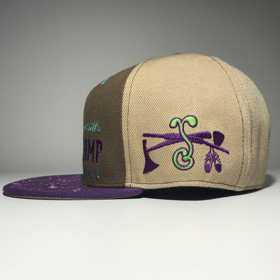Summer Camp Music Festival - 2019 Brown / Purple Fitted Hat