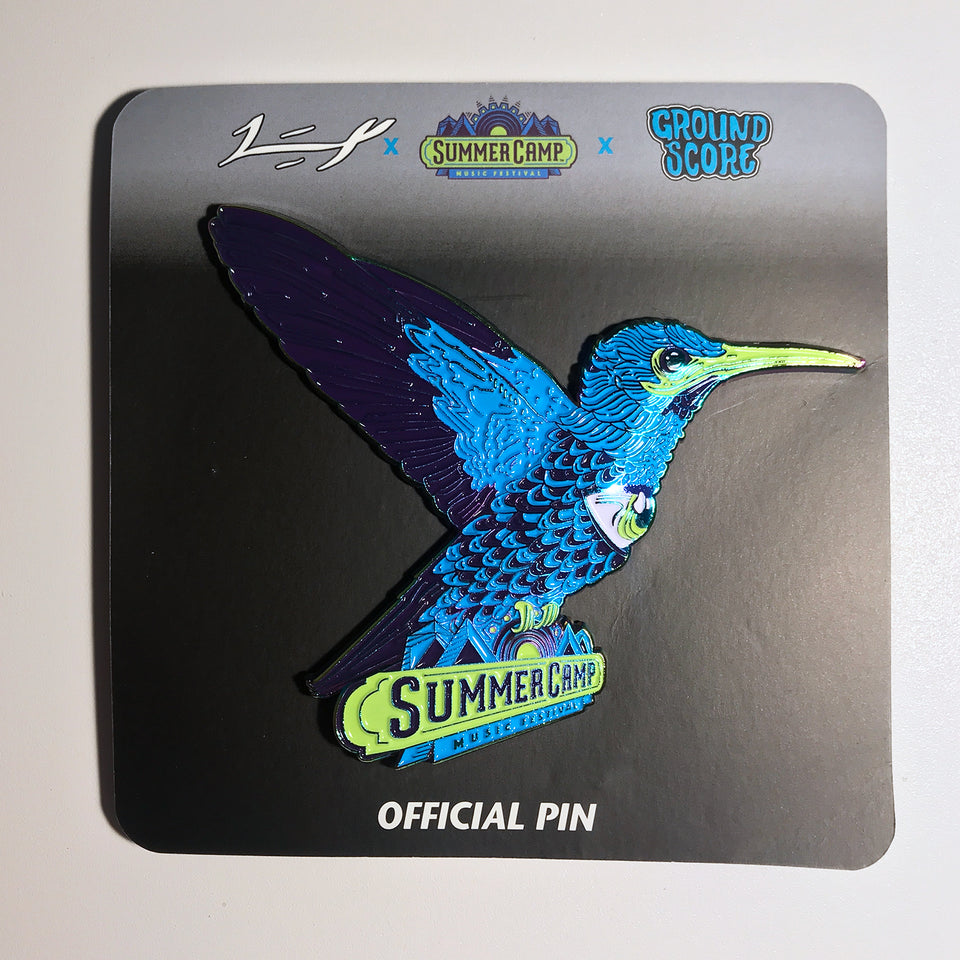 Summer Camp Music Festival - 2019 Premium Hummingbird Pin