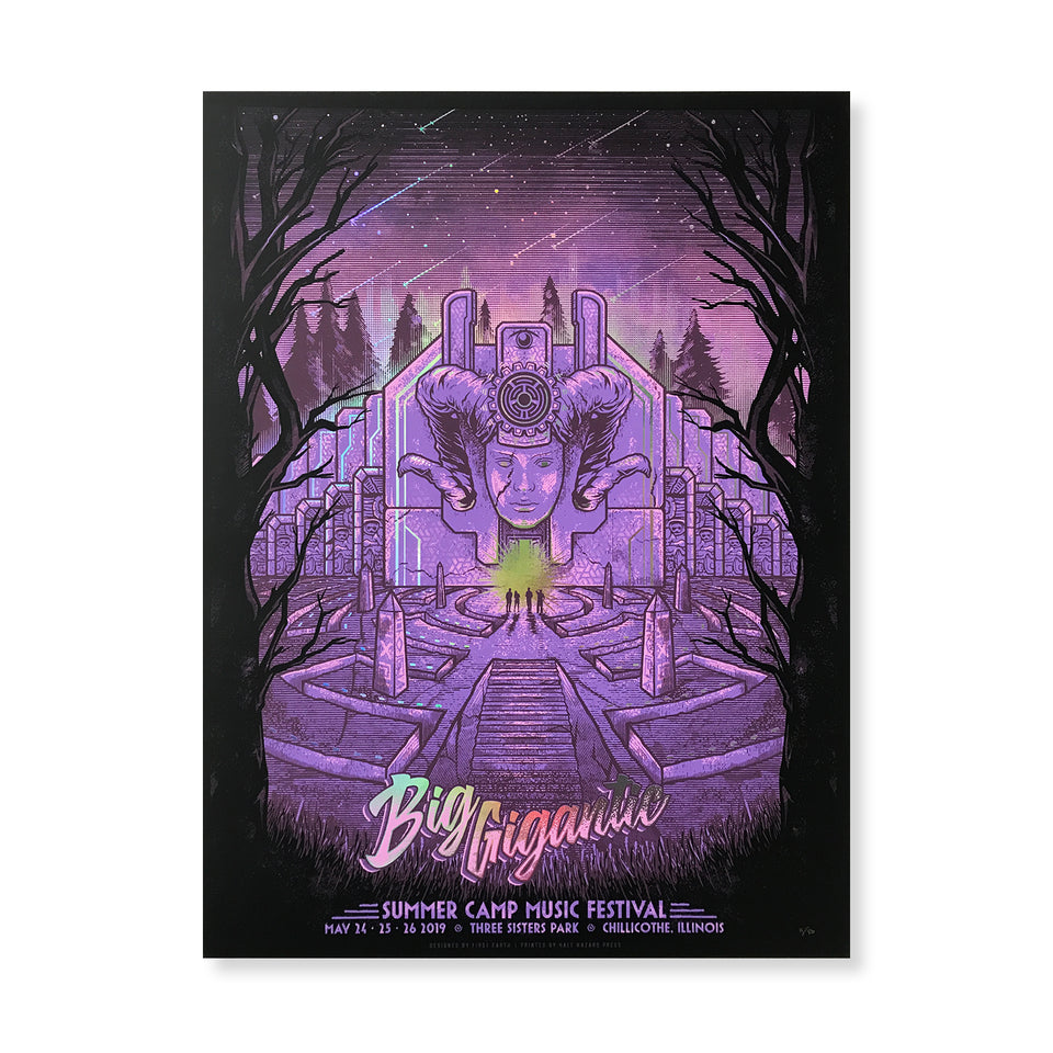 Summer Camp Music Festival - 2019 SC x Big Gigantic Foil Poster