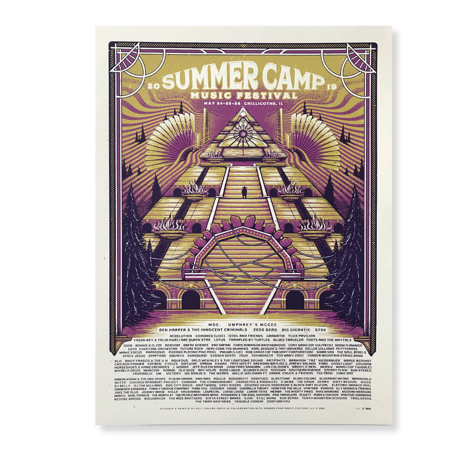 Summer Camp Music Festival - 2019 Official Festival Poster