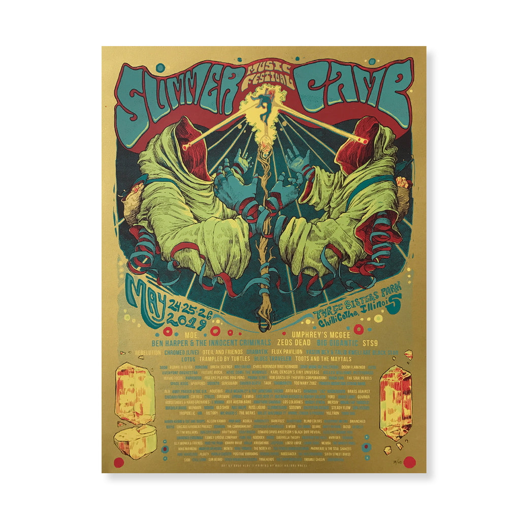Summer Camp Music Festival - 2019 Laser Eyes FOIL Festival Poster