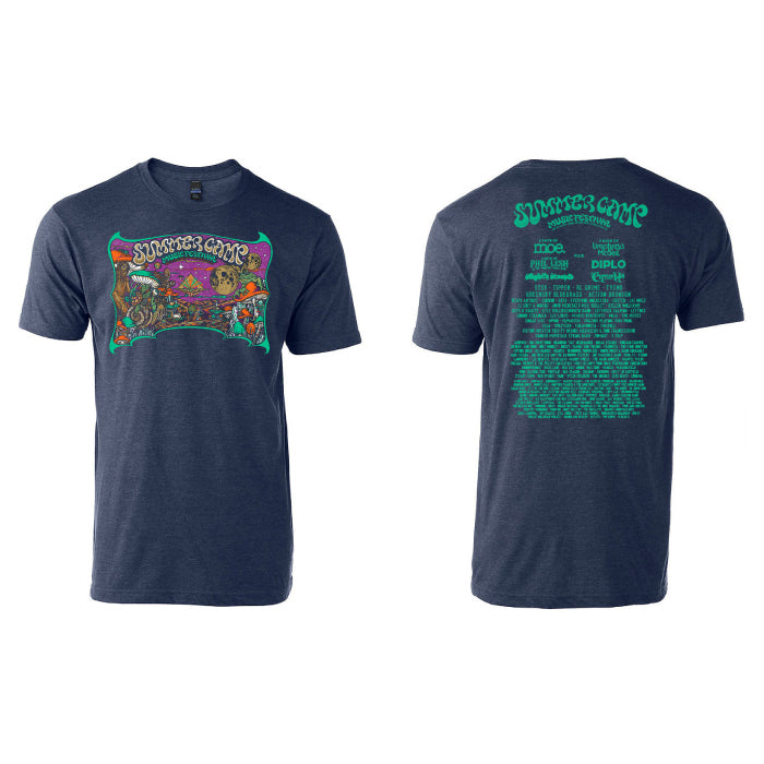 Summer Camp Music Festival - Official Festival Tee - Heather Denim