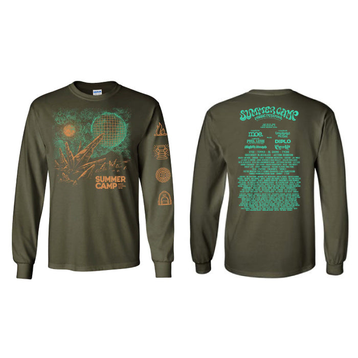 Summer Camp Music Festival - Other World - Military Green Long Sleeve