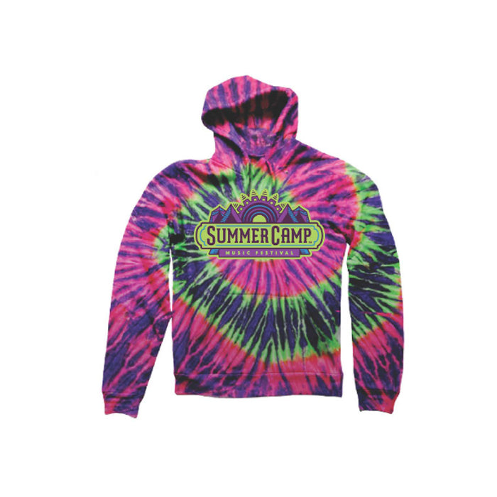 Summer Camp Music Festival - Summer Camp Logo Tie Dye - Pullover Hoodie