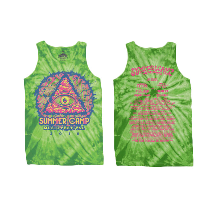 Summer Camp Music Festival - Third Eye - Tie Dye Tank Top