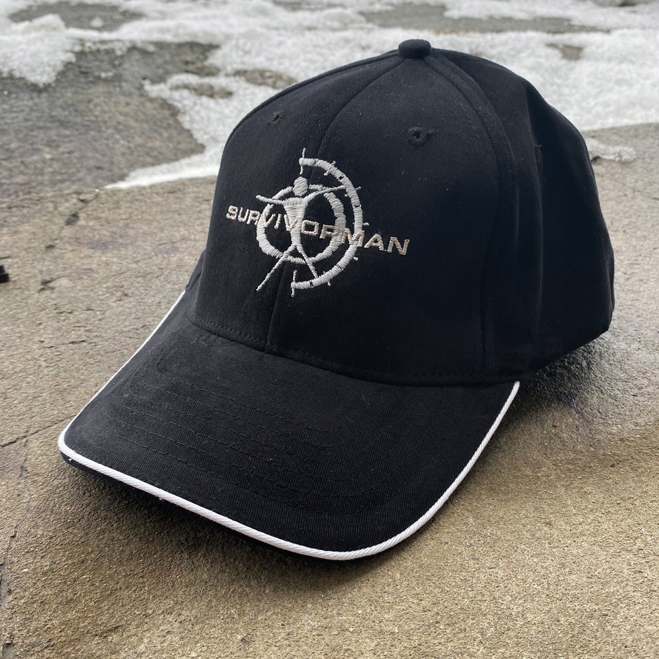 Survivorman - Black w/ White Rim Hat
