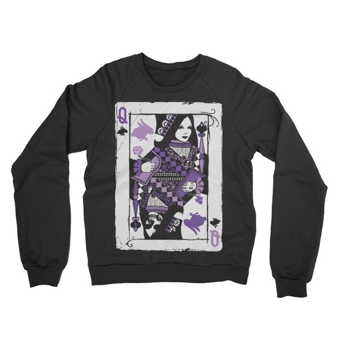 THE BIRTHDAY MASSACRE -Queen Card- Crewneck Sweater