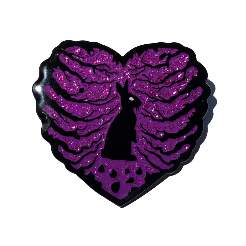 THE BIRTHDAY MASSACRE - Bunny Heart - Glitter Lapel Pin