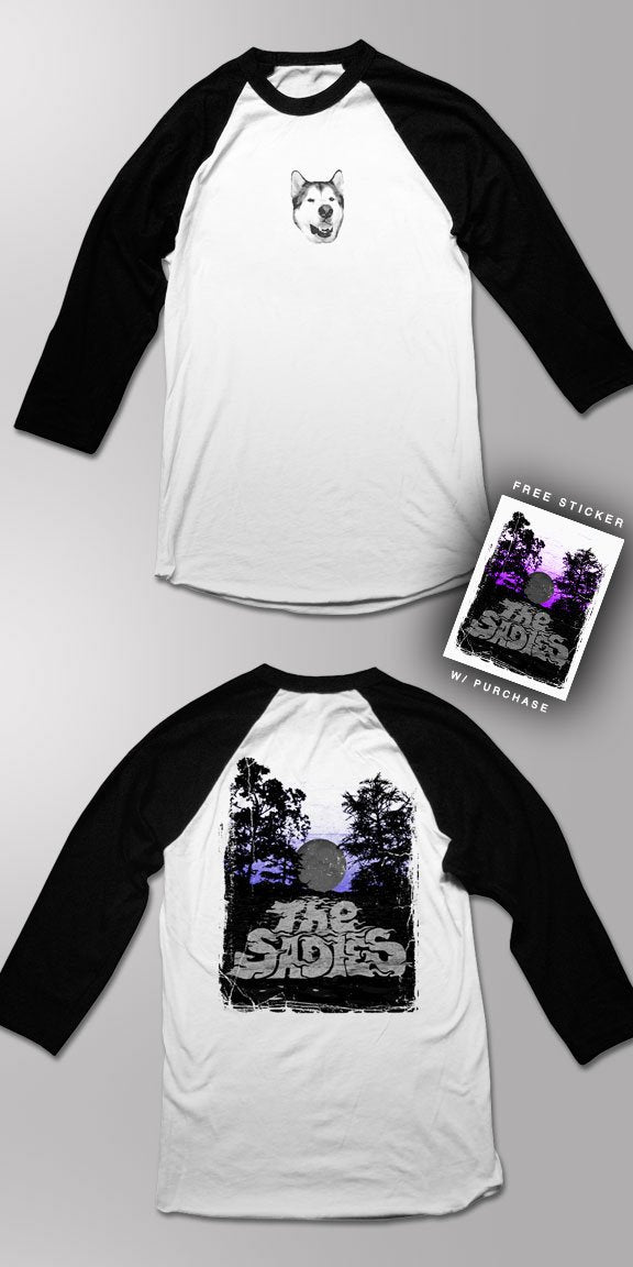 THE SADIES -Moon- 3/4 Sleeve Baseball Tee