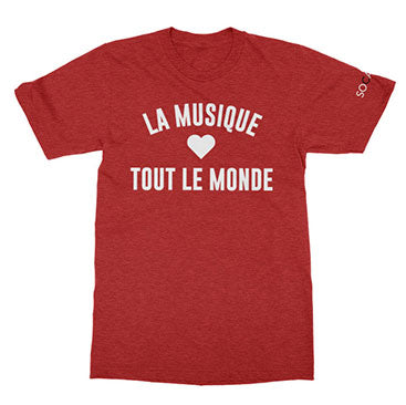 SOCAN - La Musique - Heather Red Tee