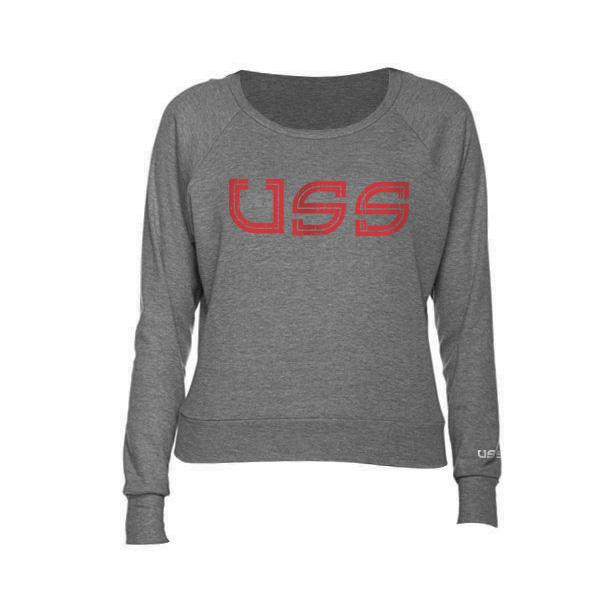 U.S.S. - Distressed Logo - Ladies Raglan