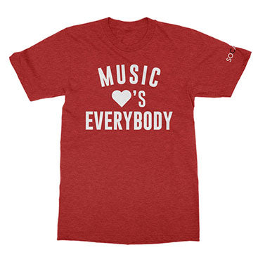 SOCAN - Music Loves Everybody - Heather Red Tee