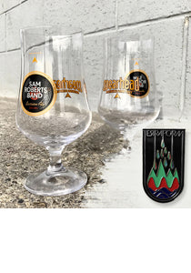 SRB Spearhead Signature Tulip Glass and Lapel Pin Bundle