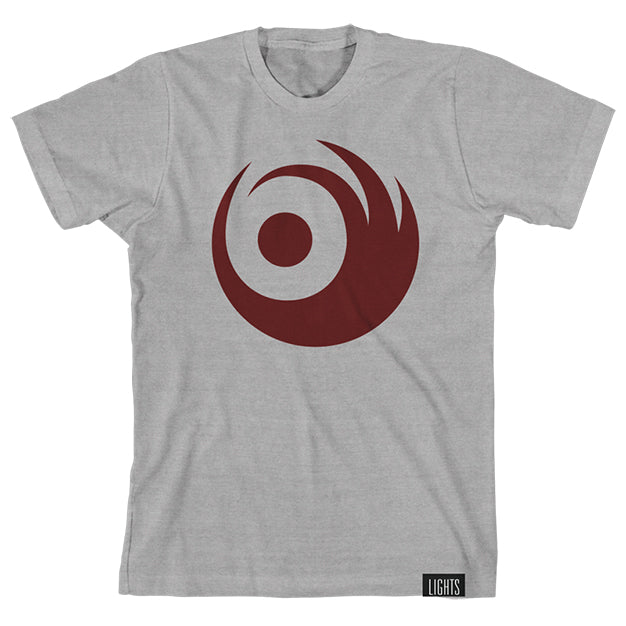 LIGHTS Swirl Heather Gray Tee
