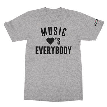 SOCAN - Music Loves Everybody - Heather Grey Tee