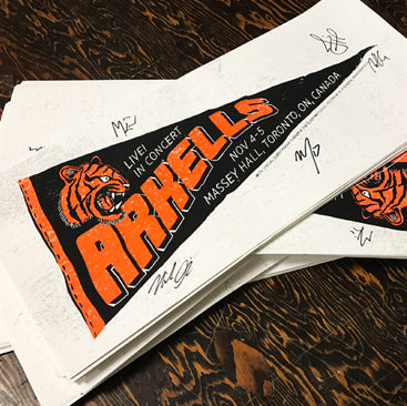 Arkells - Pennant - AUTOGRAPHED Silk Screened Poster